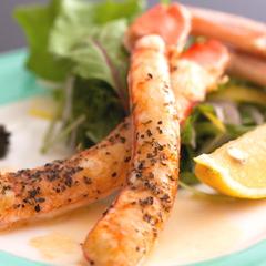 かに屋の贅沢!ここだけの【創作かにフルコース】 蟹ソテー、蟹トロロ丼、蟹にぎり、カニ天、焼・刺し