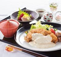 【2食付/お部屋で夕食】 宮崎名物チキン南蛮と宮崎牛サイコロステーキを味わう 「竹彩御膳」