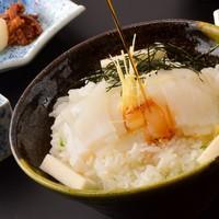 宿自慢!逸品☆秘伝のダシ【元祖イカ丼】&旬魚会席