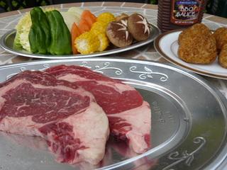【夏得】軽井沢高原野菜と牛ステーキ300gのガーデンBBQプラン