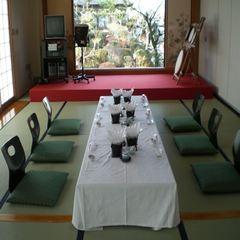 日帰り【食事+天然温泉】★1階★人数に合わせた個室食事会場★