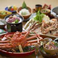 [グループでシェア] 活松葉蟹のカニスキ鍋&茹で松葉蟹&お造り&鳥取和牛付のミックスプラン
