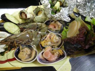 個室の夕食★海の幸を!七輪で楽しむ炭火焼きプラン♪1泊2食付