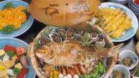 【魚介の宝楽焼プラン】お頭付き鯛一匹&魚介類の旨みたっぷり♪