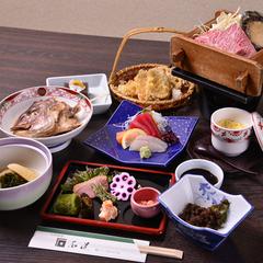 人気No.1☆選べる幸せ♪【<鮑の陶板焼き>or<国産牛ステーキ>or<ロブスターの黄金焼き>】