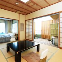 露天風呂付きのゆったりできる客室(バス&トイレ付き)