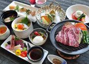 【夕食グレードアップ】お食事も贅沢に♪馬追牛&長沼の旬を使った料理長自慢の一品を味わう(夕朝食付)