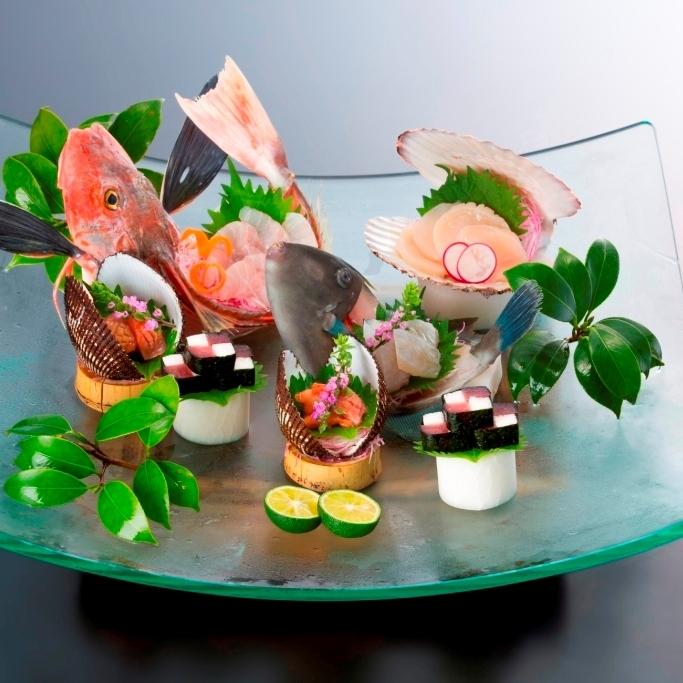【旬の特選料理】塩釜港直送朝獲れ地魚姿盛りプラン
