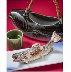 【岩魚の骨酒】手作り美食会席料理と山の恵みをたっぷり受けた究極の岩魚の骨酒で心もお腹も大満足♪♪