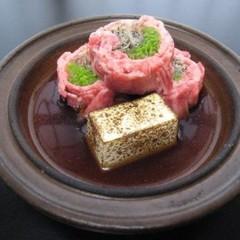 【お肉も食べれる京懐石】メインのお肉料理をチョイス!和牛ステーキもしくはすき焼き