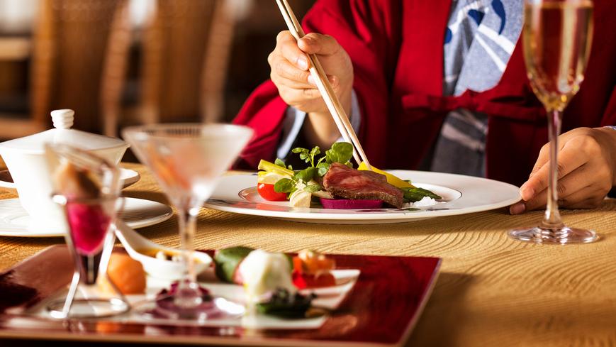 【個室で愉しむ和風フレンチ】本格フランス料理に「和」をプラス〜シェフの拘りを心ゆくまで…
