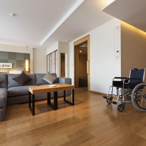 【バリアフリールーム】車椅子の方も安心のノンステップ客室(夕食:ブッフェ)