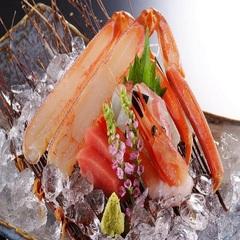 【さき楽60で2160円お得】蟹刺・茹蟹・焼蟹・蟹すき≪平日・日曜限定≫一人かに2杯相当!かにづくし
