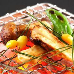 【厳選素材会席】《10月11月》松茸炭火焼&鮮魚お造りグレードUP