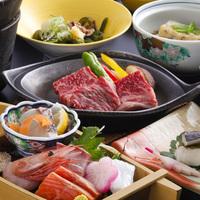 ★楽天限定プラン★ A4ランク和牛ステーキ付き会席にグレードアップ! ◆日本海の旬魚のお造里付き♪◆