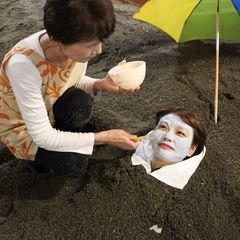 【大人気!】今までになかった?新感覚♪砂むし&海水お顔パックプラン
