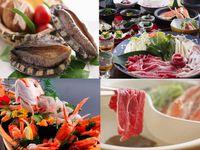 【秋冬旅セール】<朝夕食は個室処>♪Wブランド肉 しゃぶしゃぶ&活あわび&船盛♪4湯貸切無料