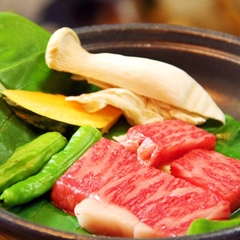 大好評の『飛騨牛ステーキ』を飛騨郷土料理と一緒に楽しむ♪1泊2食付
