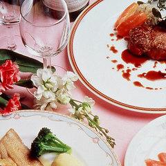 一番人気!【グラスワイン付】会津産の新鮮な素材を贅沢に使ったコース料理の夕べ〜貸切露天風呂付自慢料理