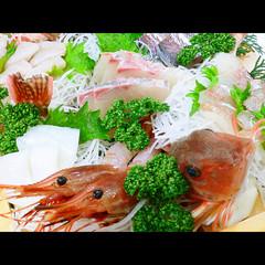 【3/15〜4/15限定】若狭の春の味覚!新鮮コウイカ活け造り&豪華舟盛で大満足♪〔1泊2食付〕