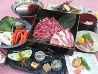 【冬楽】支配人おすすめ\\長野の牛と黒部郷の黒豚しゃぶしゃぶorすき焼//冬の鍋を豪華W肉が彩ります