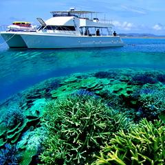 【那覇からクルーザーで出発♪】国立公園指定ケラマ大珊瑚礁シュノーケリング半日ツアー付プラン★朝食付