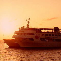 【那覇の海をロマンチッククルーズ】夕日に染まる海上で〜優雅に愉しむ洋食ディナーコース〜