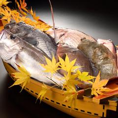 【カップル】鮮魚商の宿 庄内旬の幸満載 豪華舟盛り付き♪