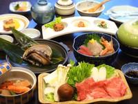 【贅沢×豪快×満腹】「アワビの踊り焼き」と「熊野牛鍋」!ダブルメイン料理のよくばりプラン!