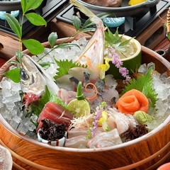 【お刺身オケ盛り会席プラン】お刺身メインのご夕食をお探しなら、コレ!