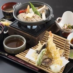 【一泊二食付】旬の魚介と野菜の天ぷら御膳