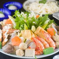 【二食付】お野菜と魚介を盛り沢山☆寄せ鍋コース【冬季限定】