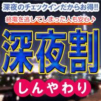 【深夜割】24時〜最長27時チェックインOK★500円もお得!ミッドナイト割素泊まりプラン♪