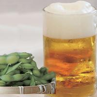 【朝食付】+「ほろ酔いセット」!生ビール二杯+枝豆+ポテトフライ♪