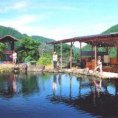 釣り堀1時間無料♪青〜い空の下楽しむ釣りプラン<当館人気自然を感じる旅>