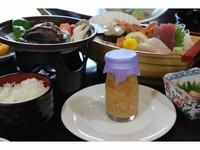 ◆期間限定◆魚彩王国 三陸生ウニ 瓶ビン物語 【生ウニ1本付】&鮑の踊り焼き付きプラン