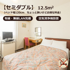 セミダブル◇禁煙◇12平米(120cm幅ベッド)無料男性浴場