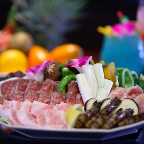 【さき楽28日前】スパ施設が豊富☆和洋中ビュッフェ&BBQから選べる夕食付き♪(夕・朝食付)