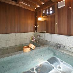 離れ【うめ】十和田石風呂(リモナイト鉱泉風呂)