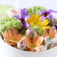 【記念日は那須いちやで】 恋するふたり! お花で感謝の気持ちを!! ケーキプレゼント!