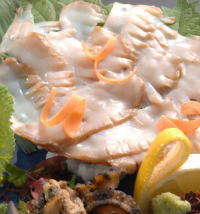 戸田菜穂CMの「虎魚家」のアワビ刺身とオコゼの極めつけ9品美味少量の技1泊2食付きプラン