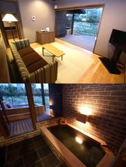 メゾネットタイプ客室【内風呂・露天風呂付き(温泉)】