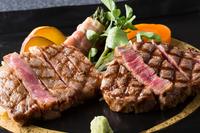 【特選ロースステーキ&フィレステーキ】夢の共演♪『但馬玄』Wステーキコース!ボリューム&お肉に感動★
