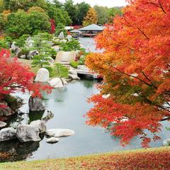 【朝食付】日本庭園と四季の花々を楽しむ★ホテル隣接「三景園」入園券付き