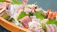 【地魚刺身船盛付き】驚きの超新鮮お刺身!選び抜いた魚介の舟盛り付フレンチコース