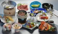 【直前割】当館1番人気!日本海の幸満載!新鮮刺身5種盛&茹で蟹片身&鳥取和牛しゃぶの「漁火会席」