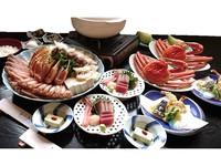 【カニづくし会席】山陰の冬の味覚!タク゛付松葉ガニ&ズワイガニ合わせて2.5杯