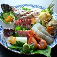 【皿盛り お造り増量】旬の新鮮な魚介類を思いっきり味わえる♪お造りグレードアップで大満足 プラン