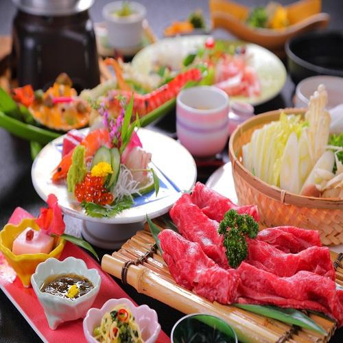 【旬魚の3種盛×豊後牛すき焼き】スタンダード会席料理と温泉を満喫≪1泊2食≫