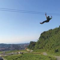 【スカイアドベンチャー体験】高さ8m!空中アスレチックに空中スライダーでスリルを味わう朝食付きプラン